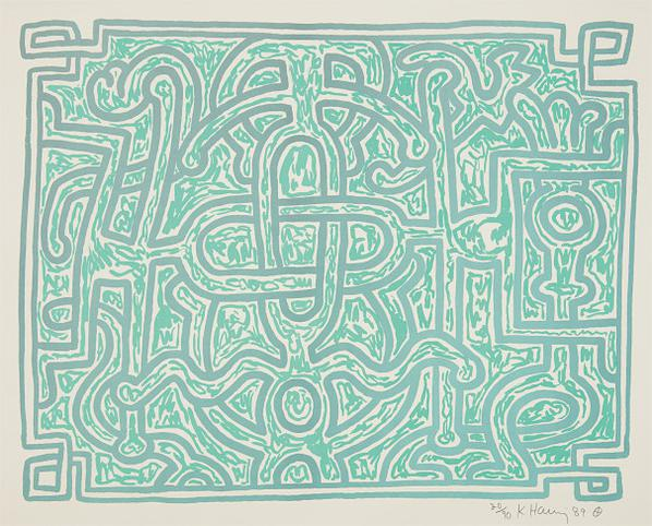 Keith Haring-Chocolate Buddha: Plate 5-1989