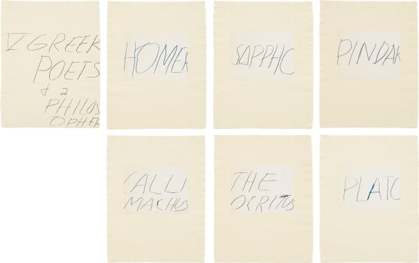 Cy Twombly-Five Greek Poets And A Philosopher-1978