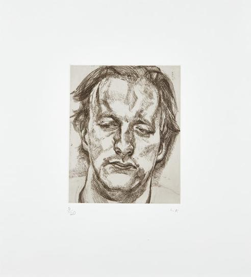 Lucian Freud-Head Of A Man-1987