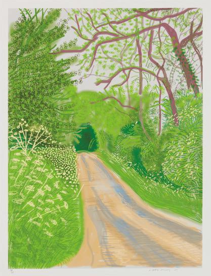 David Hockney-The Arrival Of Spring In Woldgate, East Yorkshire In 2011 (Twenty Eleven) - 16 May, 2011-2011