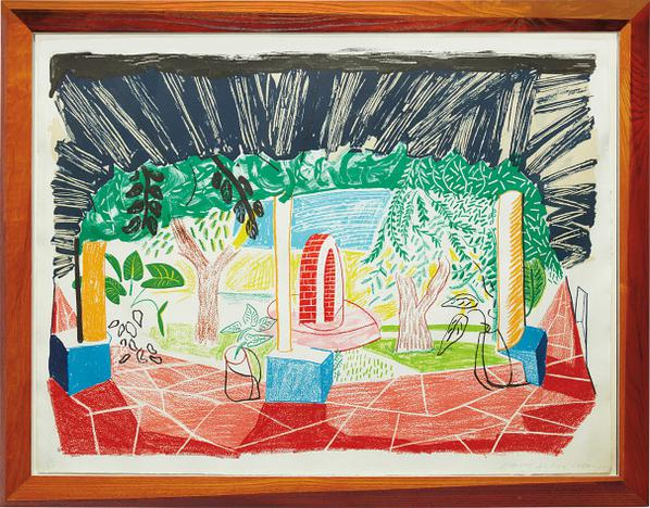 David Hockney-Views Of Hotel Well I, From Moving Focus Series-1985