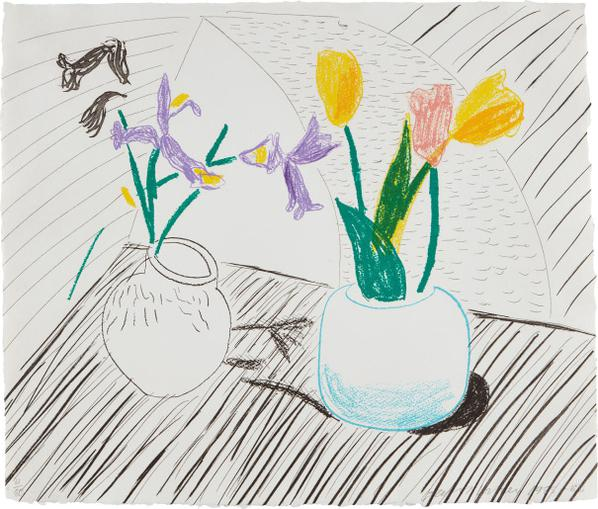 David Hockney-White Porcelain, From Moving Focus Series-1986