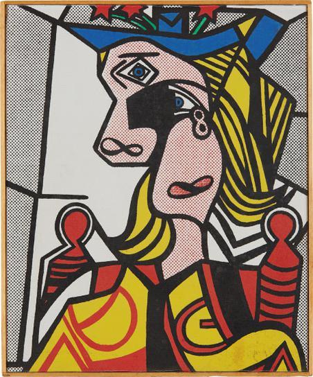 Richard Pettibone-Roy Lichtenstein, Woman With Flowered Hat, 1963-1970