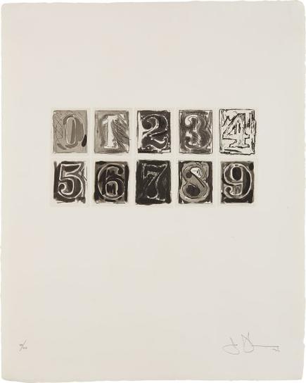 Jasper Johns-0-9-1975