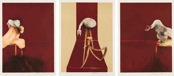 Francis Bacon-Deuxieme Version Du Triptyque, 1944 (Second Version Of The Triptych 1944)-1989