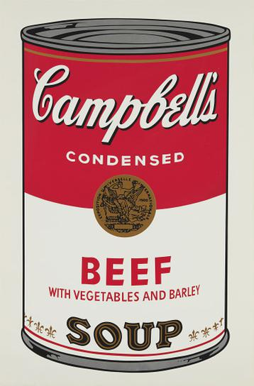 Andy Warhol-Beef, From Campbells Soup I-1968