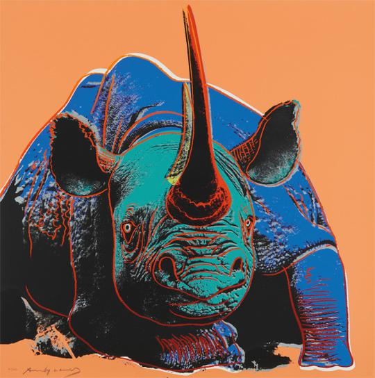 Andy Warhol-Black Rhino, From Endangered Species-1983