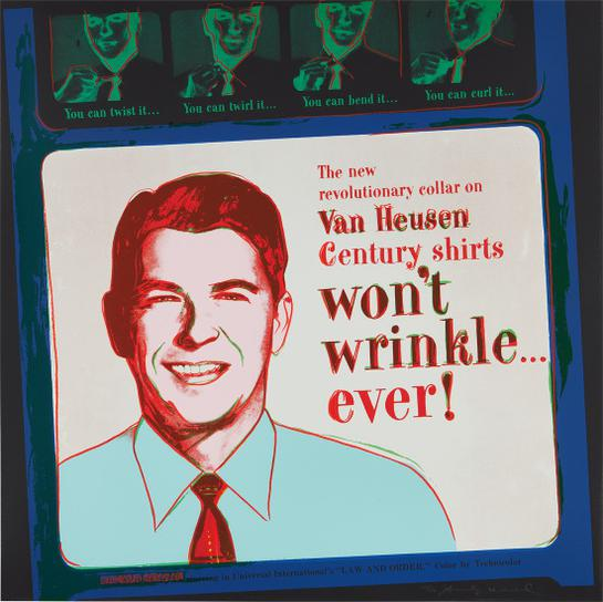 Andy Warhol-Van Heusen (Ronald Reagan), From Ads-1985