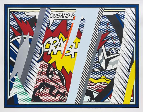 Roy Lichtenstein-Reflections On Crash, From Reflections Series-1990