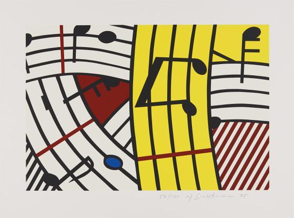 Roy Lichtenstein-Musical Notes (Composition IV)-1995
