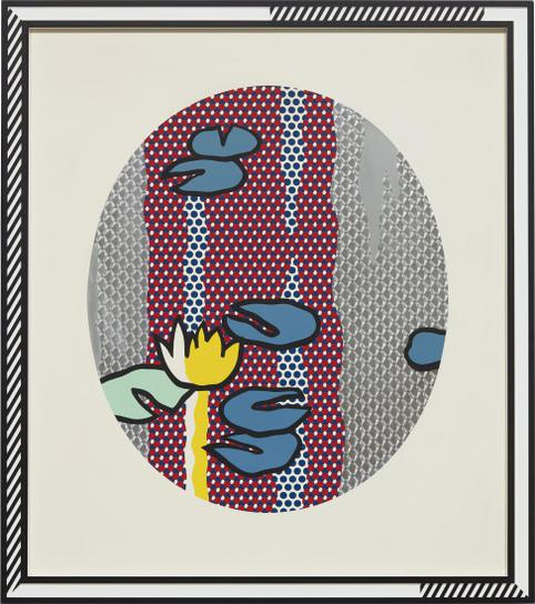 Roy Lichtenstein-Water Lilies - Blue Lily Pads, From Water Lilies Series-1992