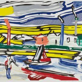 Roy Lichtenstein-The River, From Landscapes Series-1985