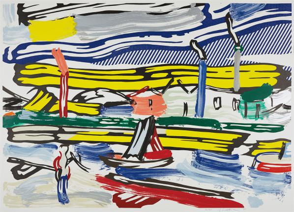 Roy Lichtenstein-The River, From Landscapes Series-1985