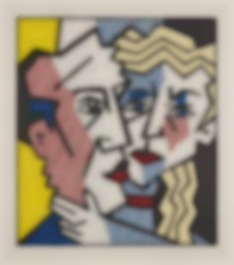 Roy Lichtenstein-The Couple, From Expressionist Woodcut Series-1980