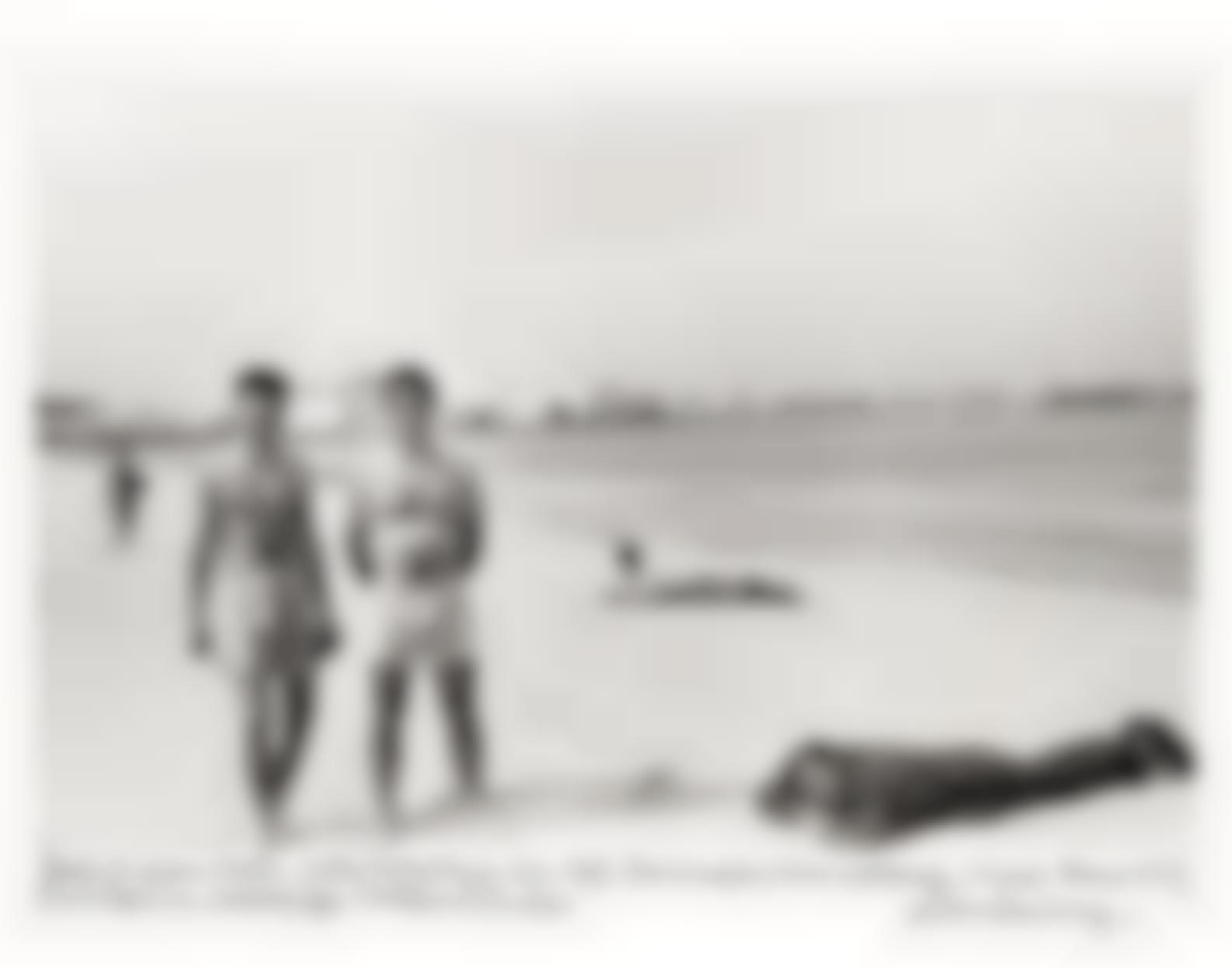 Allen Ginsberg - Kerouac, Orlovsky And Burroughs, Tanger Beach-1957