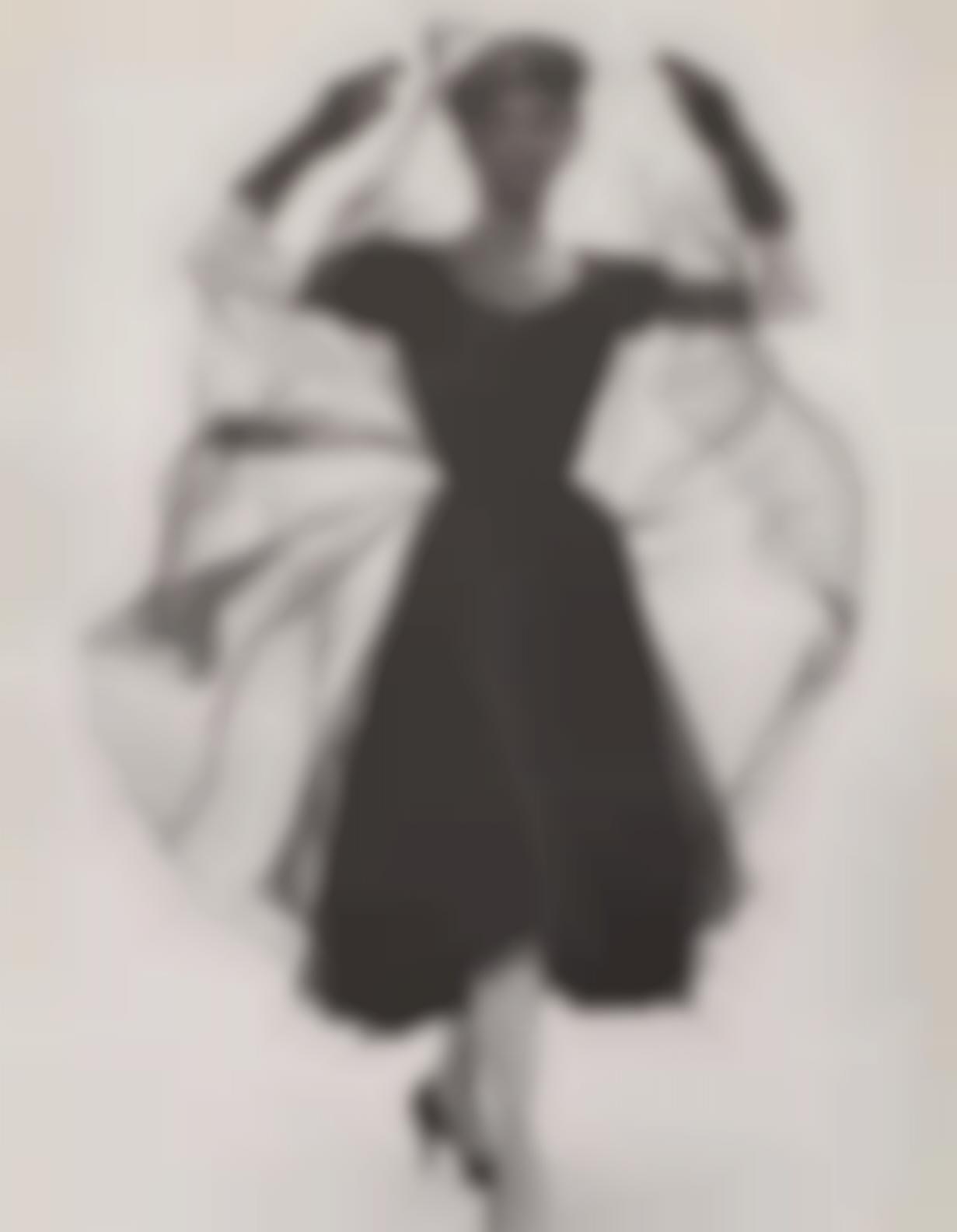 Erwin Blumenfeld-Anne Saint Marie In Black Chiffon, c. 1950-