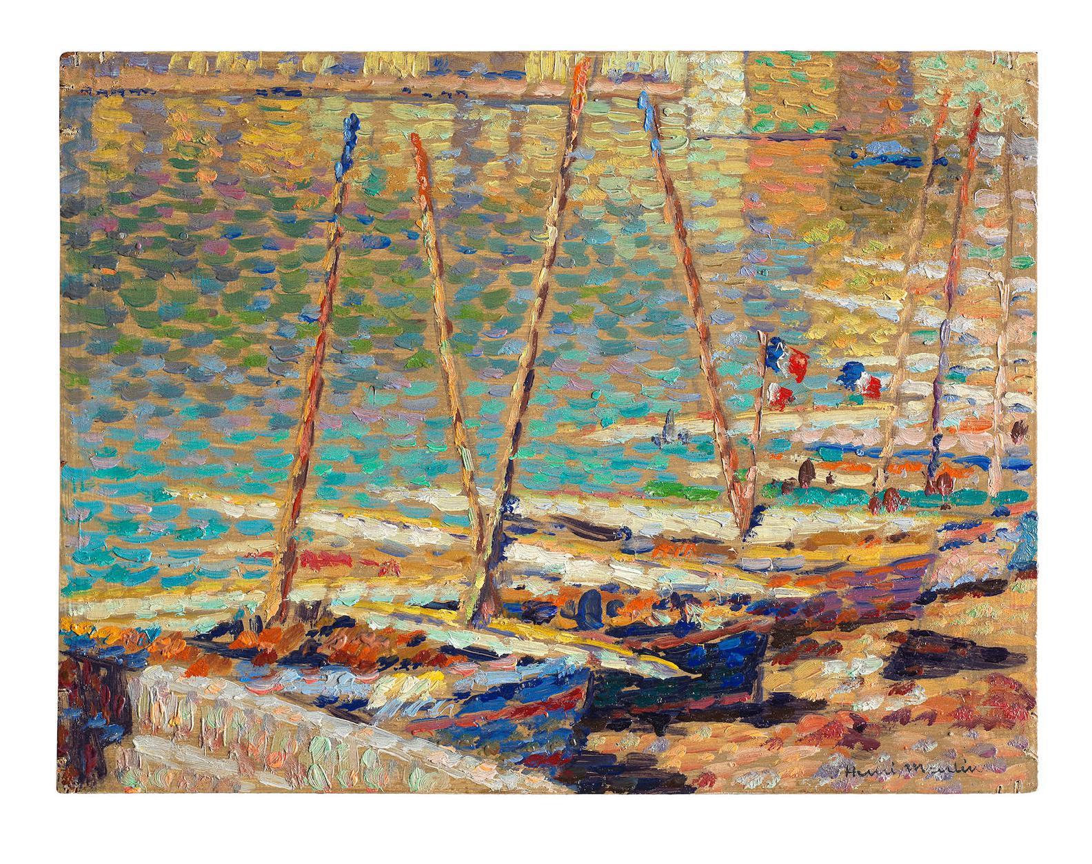 Henri Martin-Barques A Collioure-1925