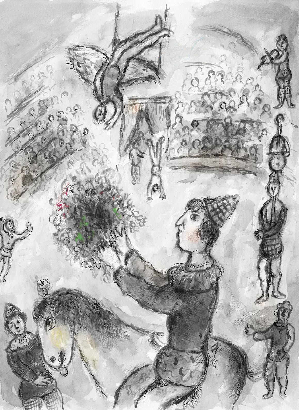 Marc Chagall-Scene De Cirque-