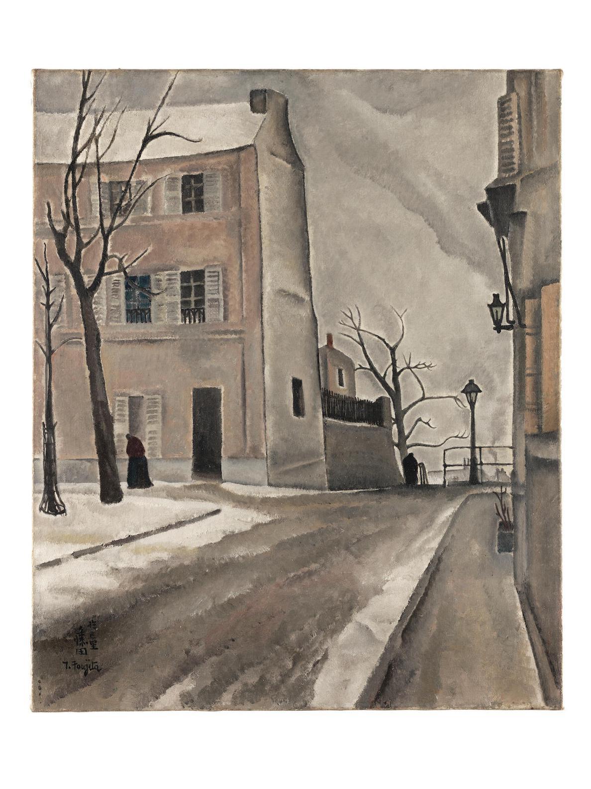 Tsuguharu Foujita-Paysage De Paris, Place Du Tertre-1917