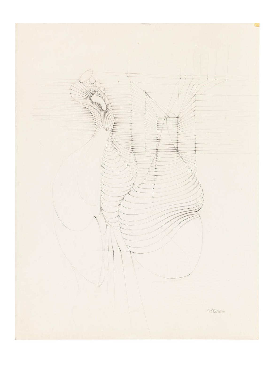 Hans Bellmer-Etude Pour Claquemur-1950