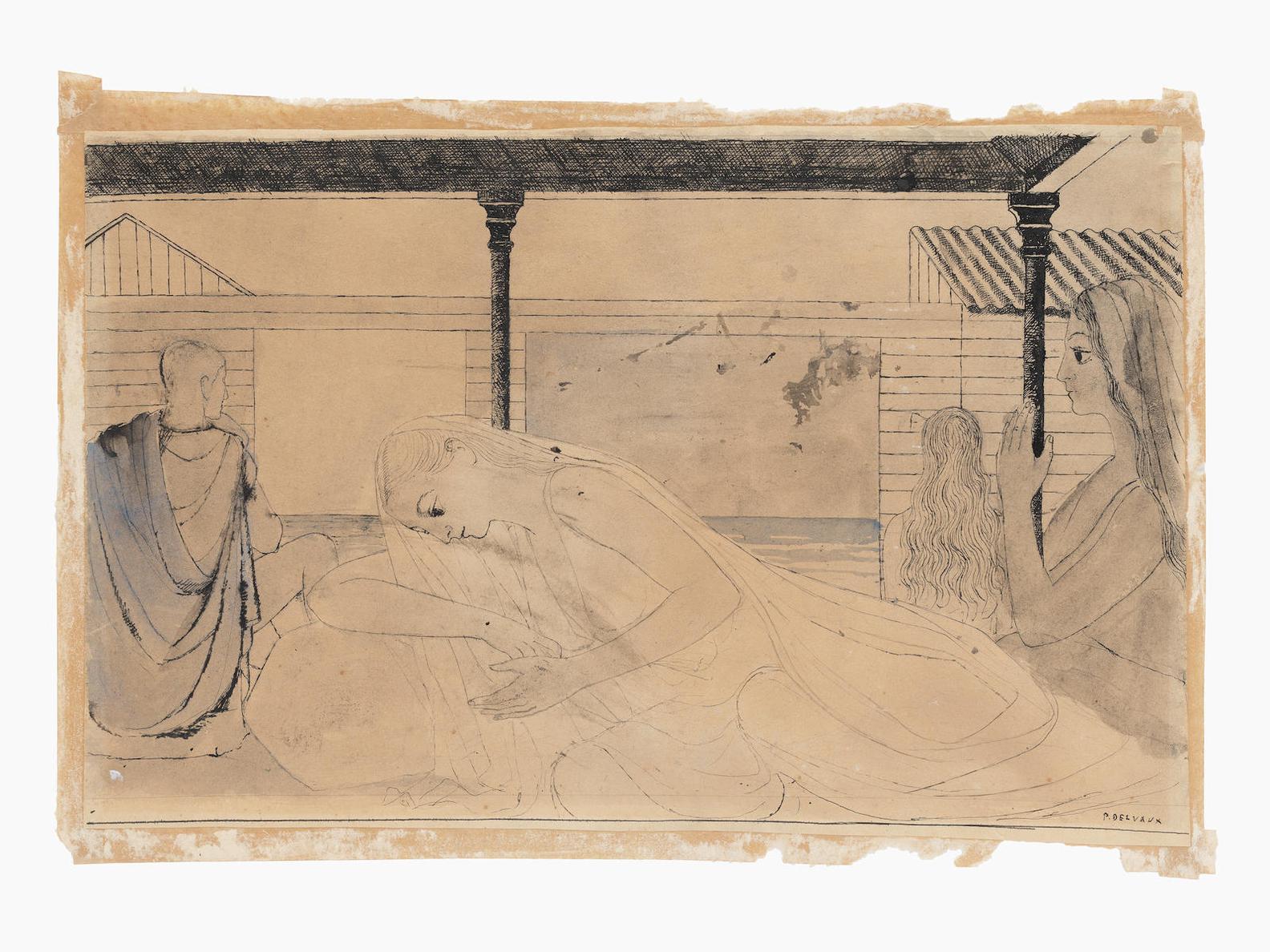 Paul Delvaux-Figures A Lantique-