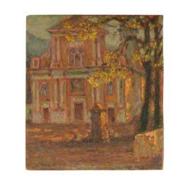 Henri Eugene Le Sidaner-Leglise, Dolceacqua-1911