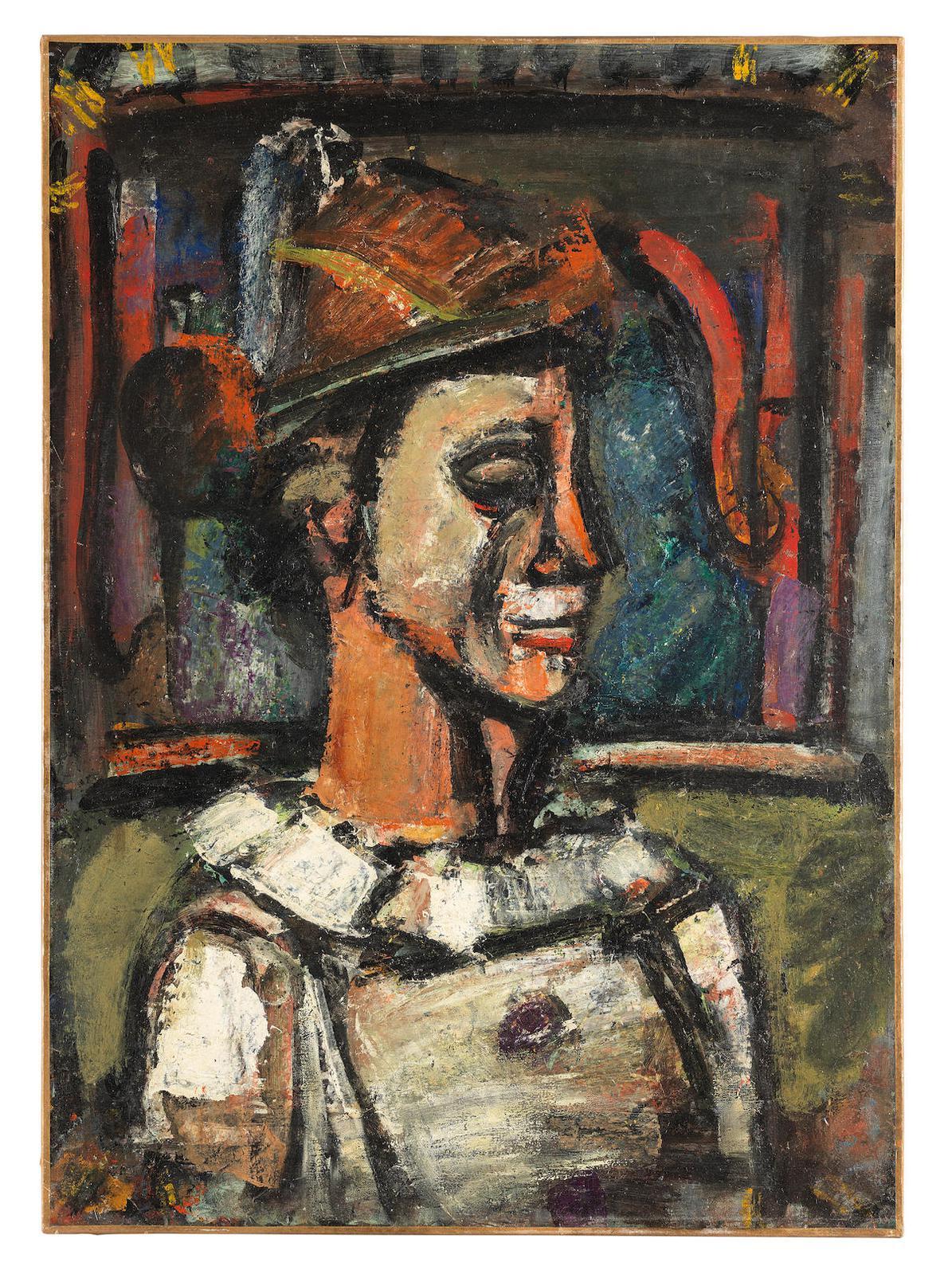 Georges Rouault-Clown De Profil-1939