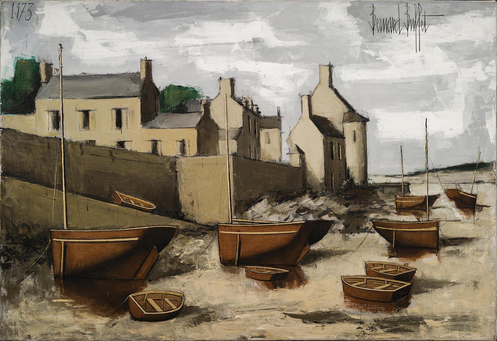Bernard Buffet-Le Conquet, Le Port A Maree Basse-1973