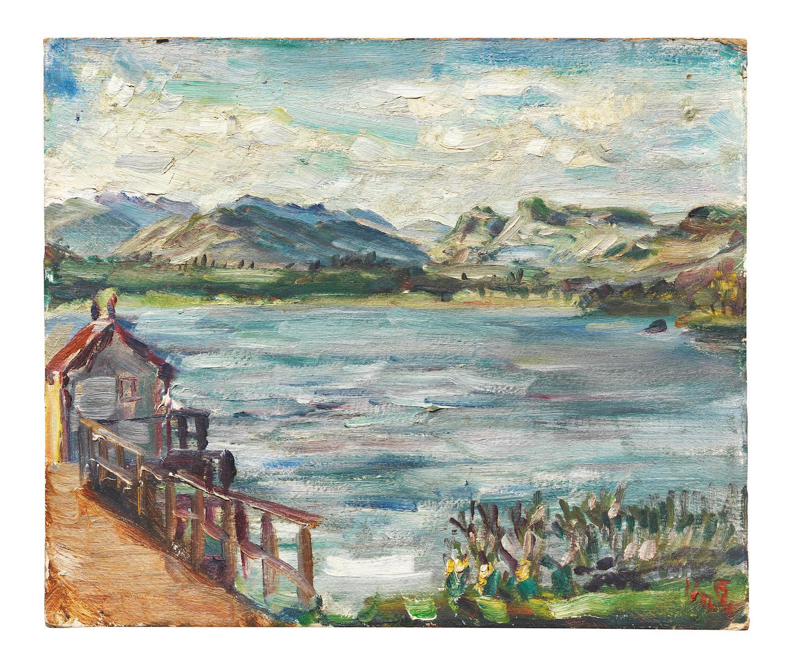 Kurt Schwitters-Untitled (Lake Windermere)-1946