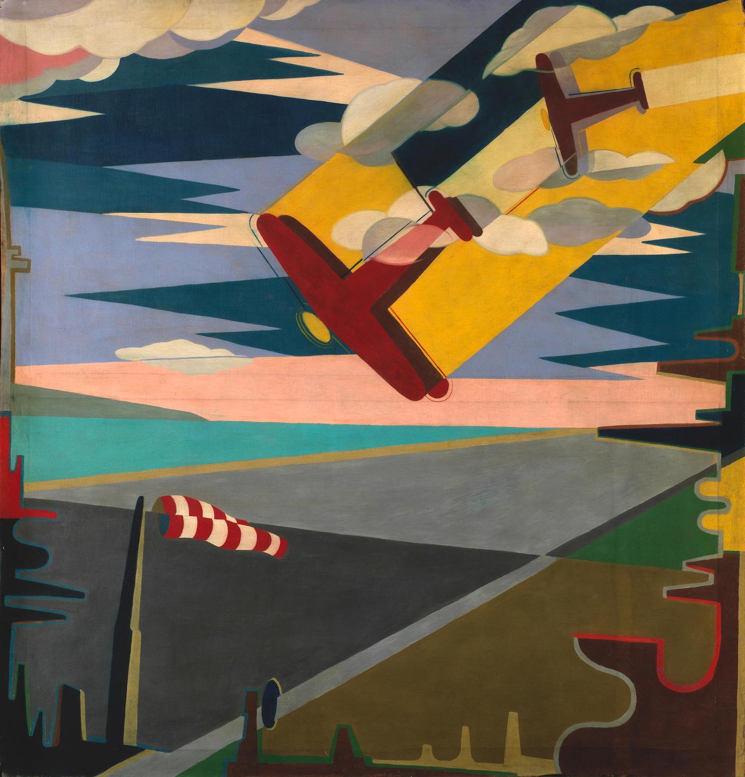 Giulio D'Anna-Aerei In Picchiata + Aeroporto-1932