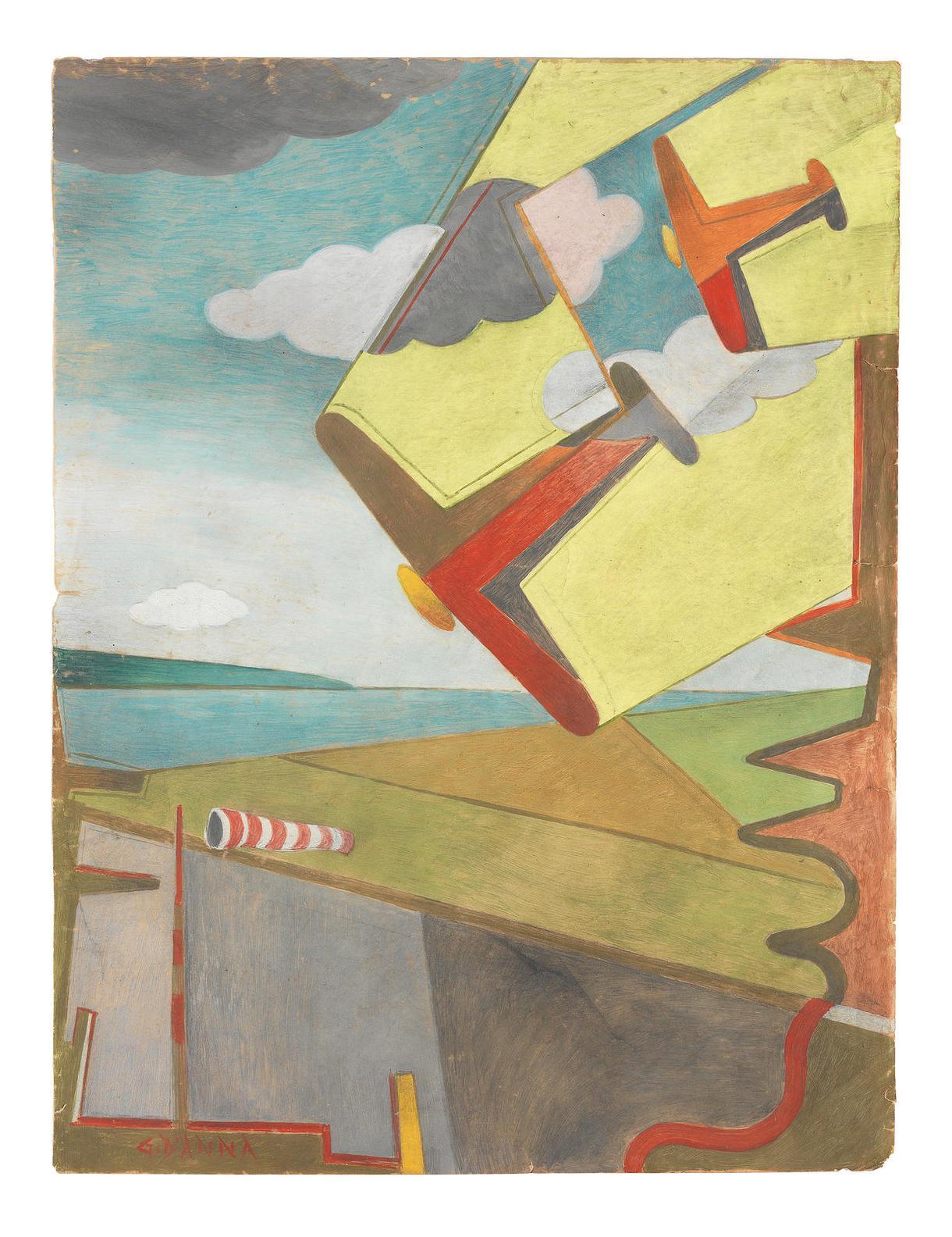 Giulio D'Anna-Aerei In Picchiata + Aeroporto-1931
