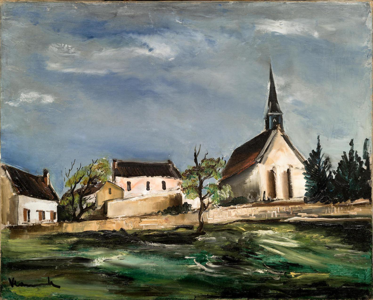 Maurice de Vlaminck-Leglise Du Village-1927