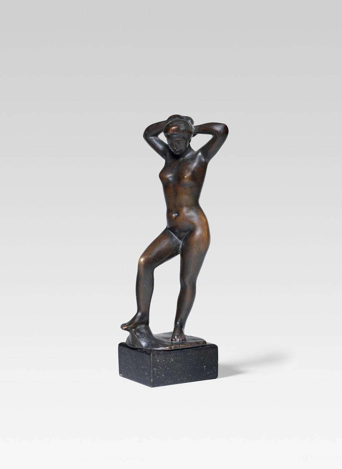Aristide Maillol-Baigneuse Debout Se Coiffant-1925