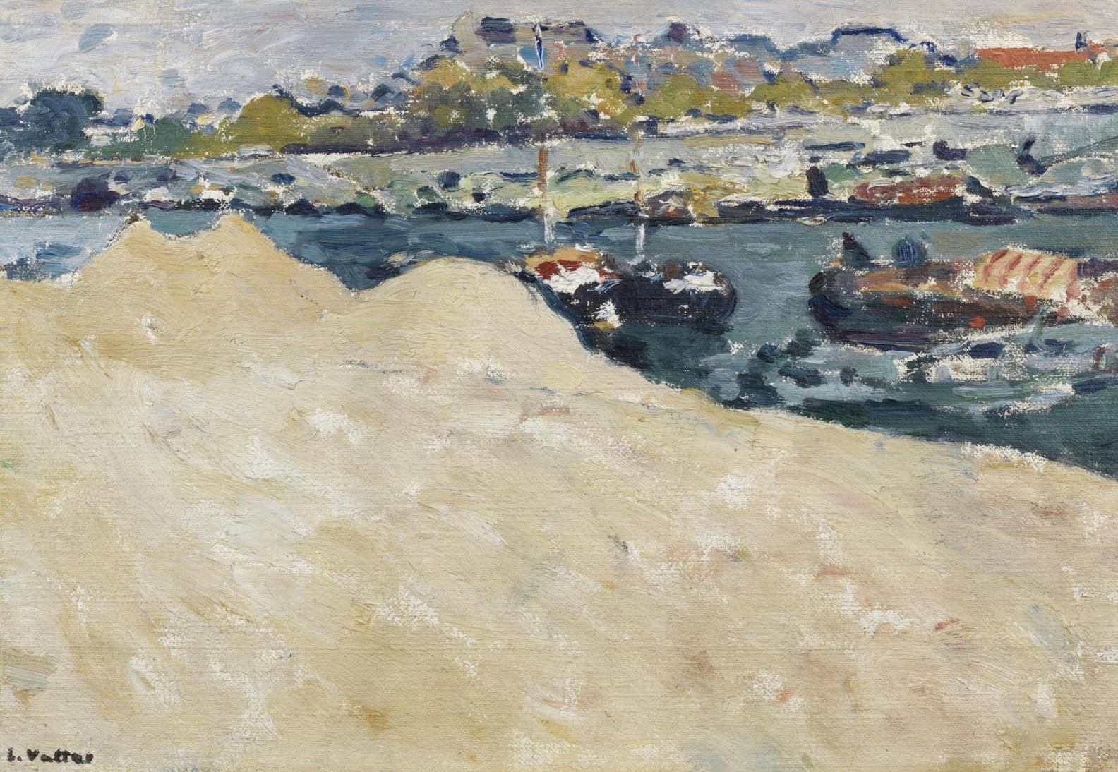 Louis Valtat-Sablieres Sur Les Quais De La Seine A Paris-1890