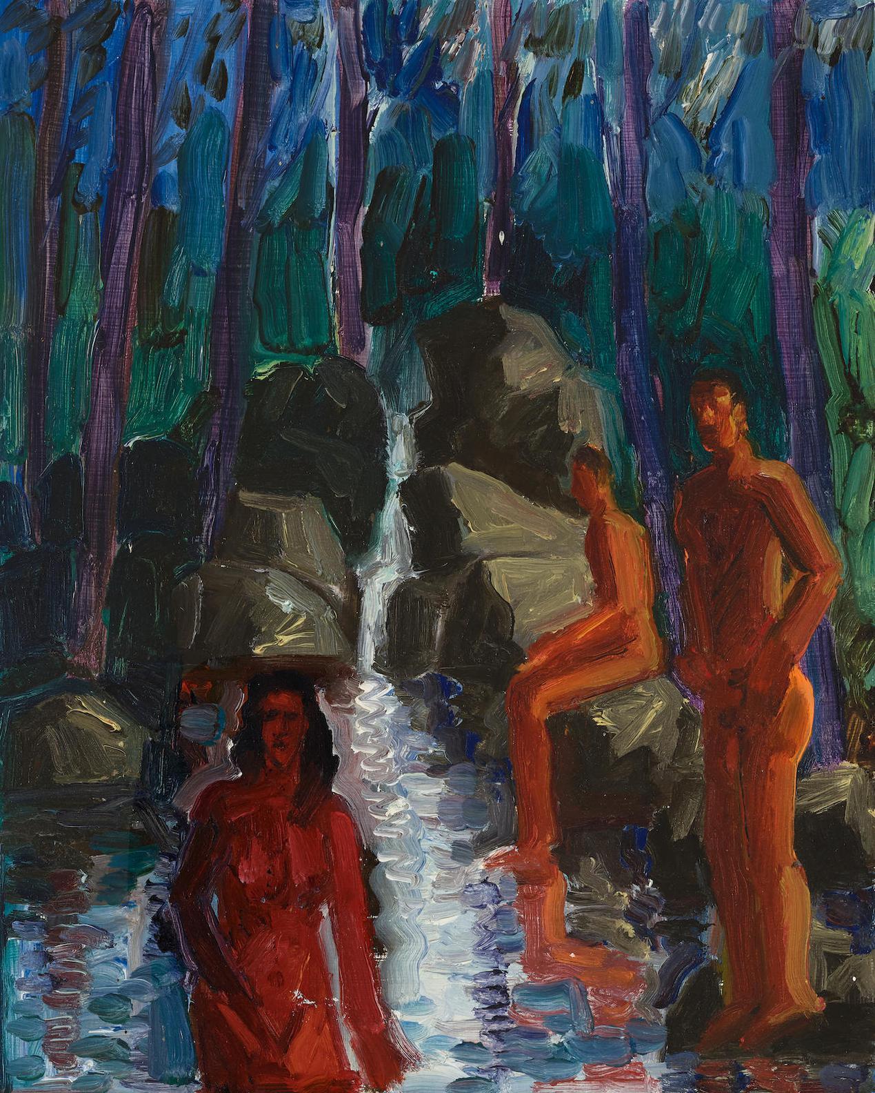 Carlos Almaraz-By The Stream-1987