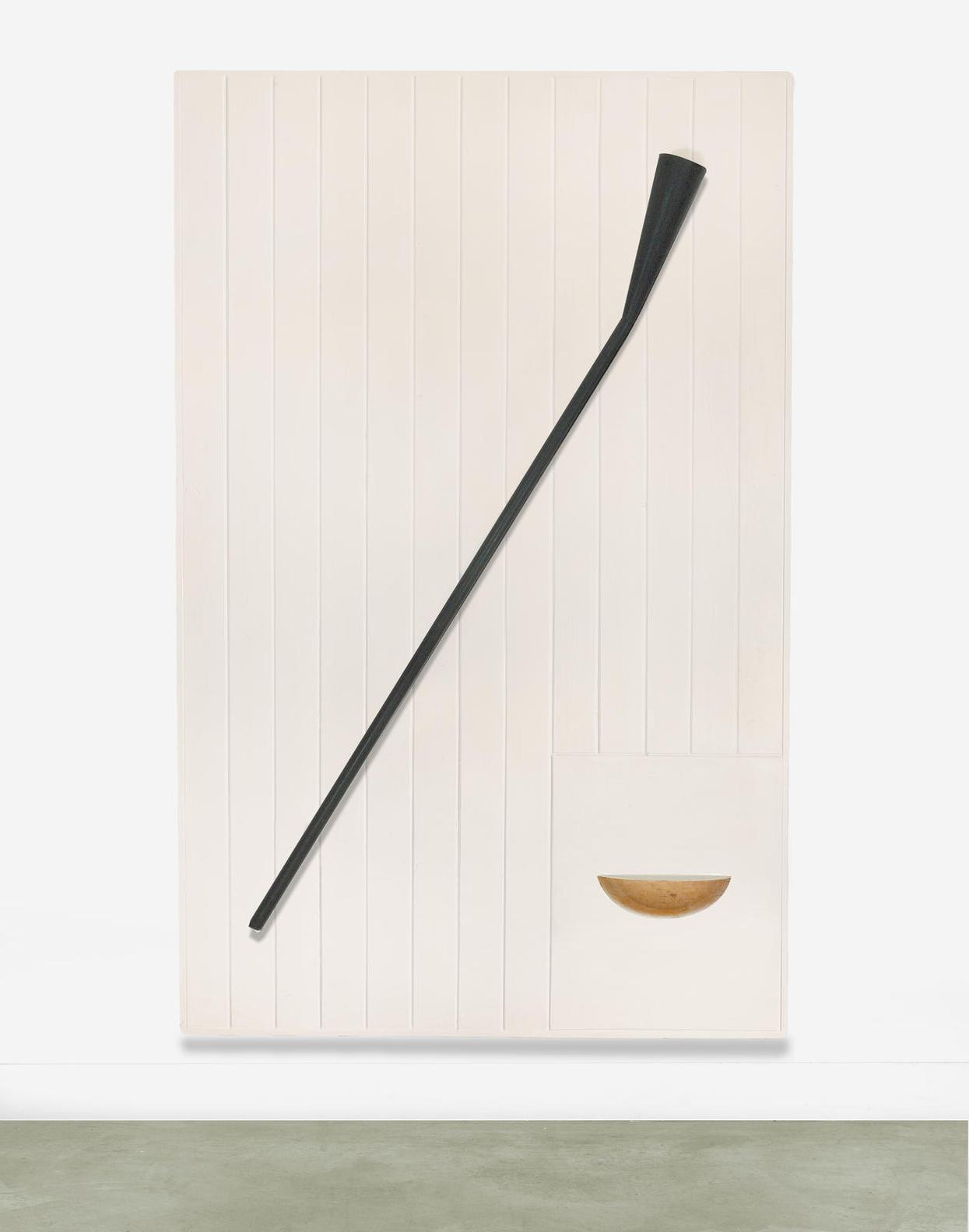 Robert Therrien-Untitled (Trumpet Plaque)-1985