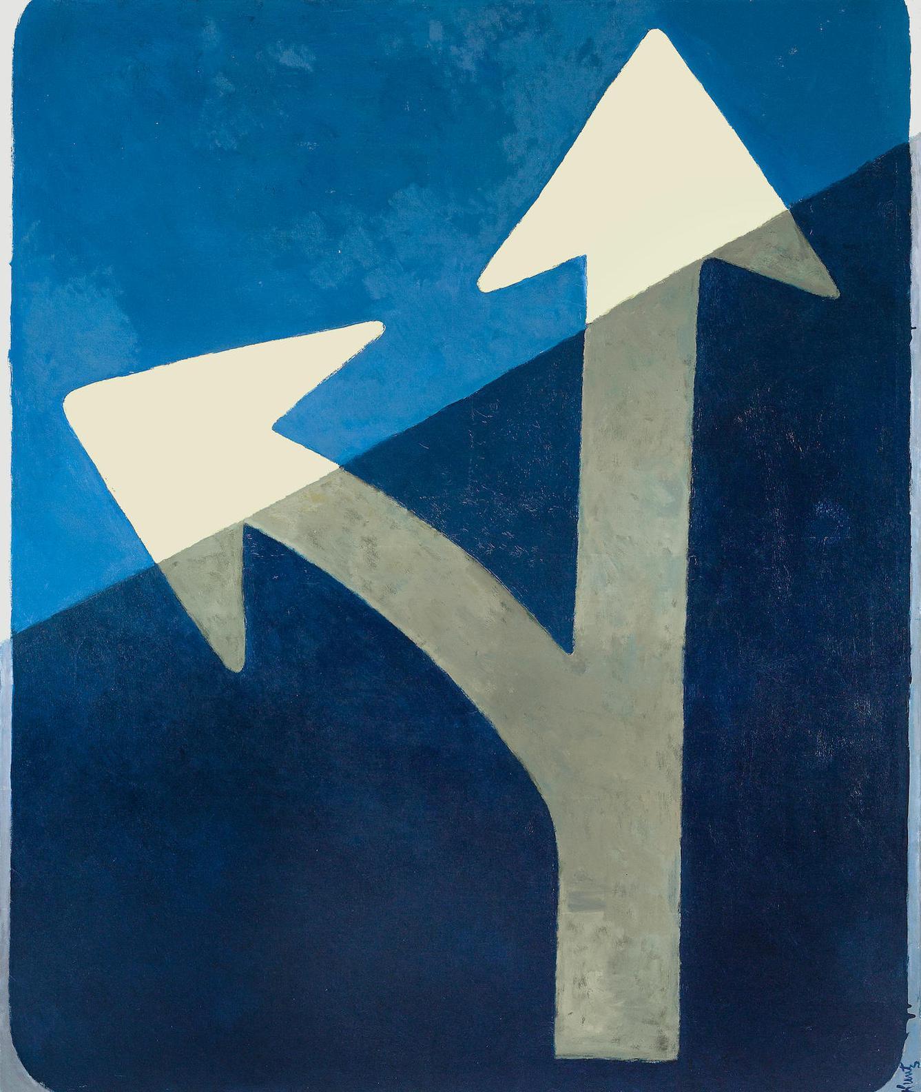 Roger Kuntz - Double Arrow (Blue Arrows)-1962