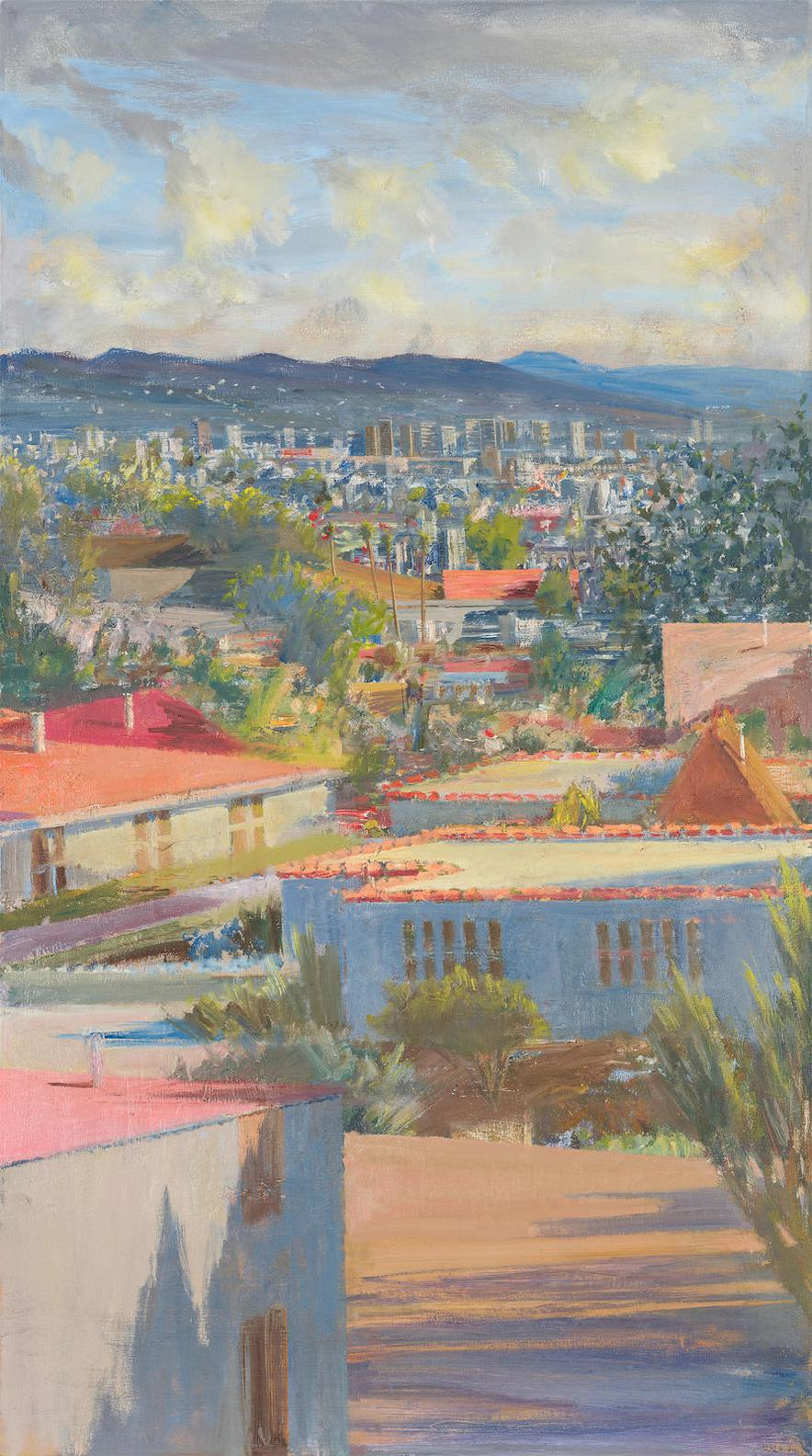 Larry Cohen-View Of The Hollywood Hills From Beverly Glen-2009