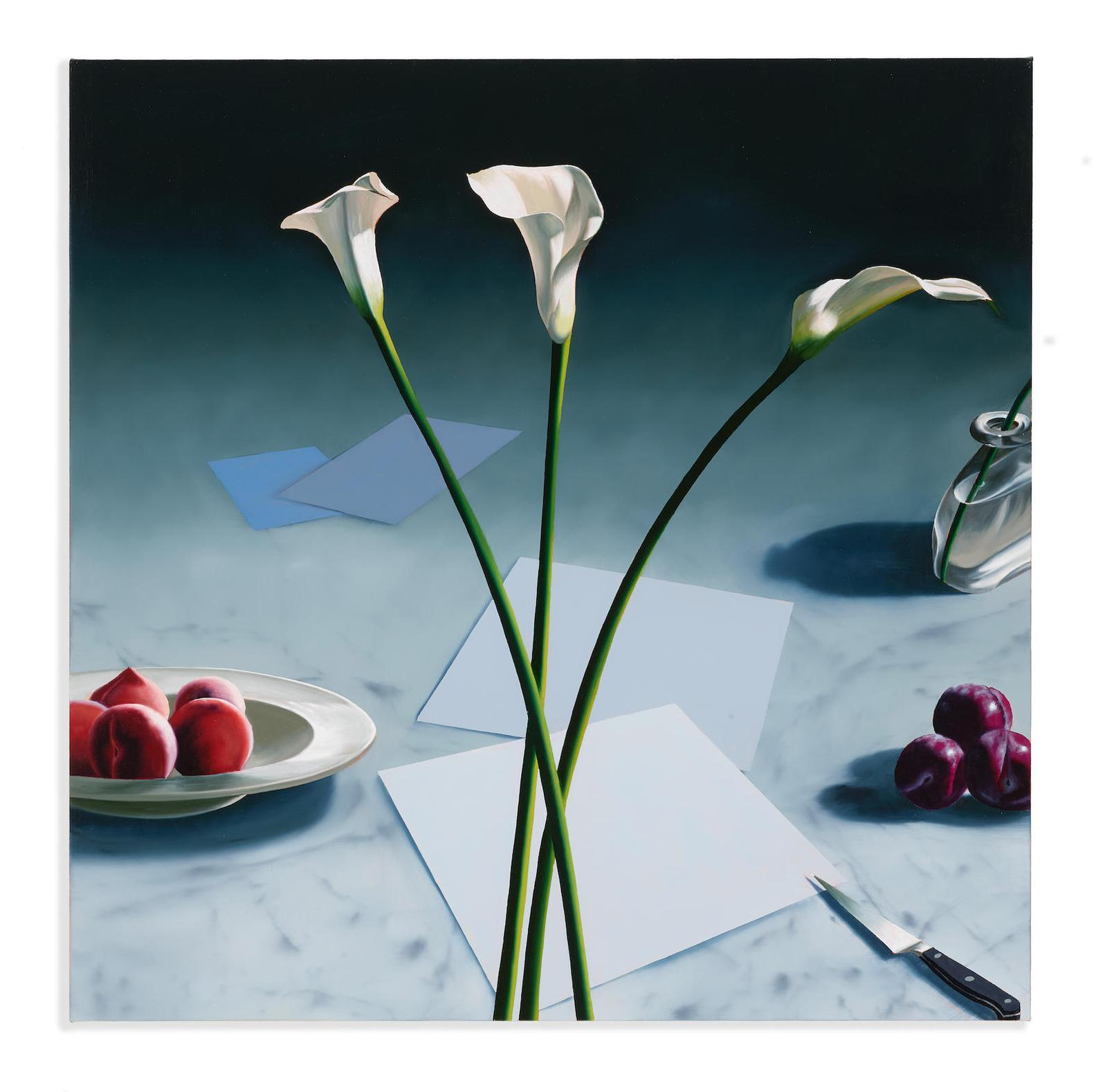 Bruce Cohen-Still Life With Calla Lilies And Peaches-2010