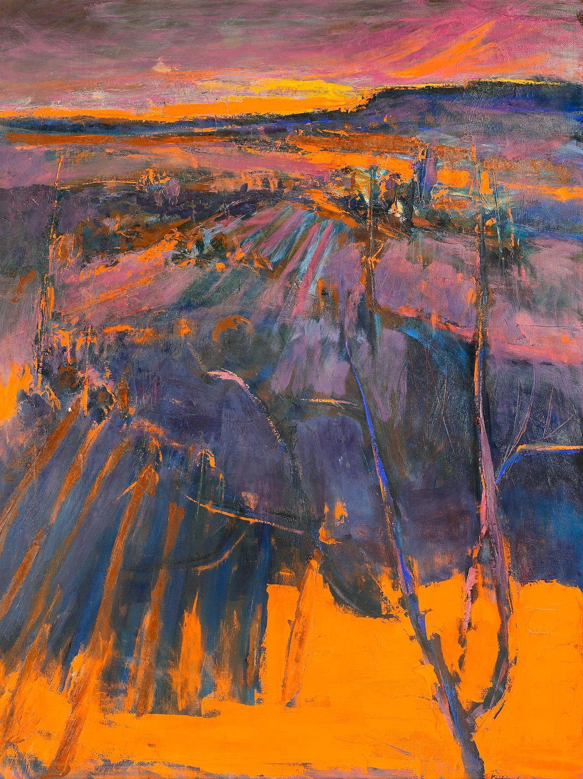 Henrietta Berk - Sunset Landscape-1972