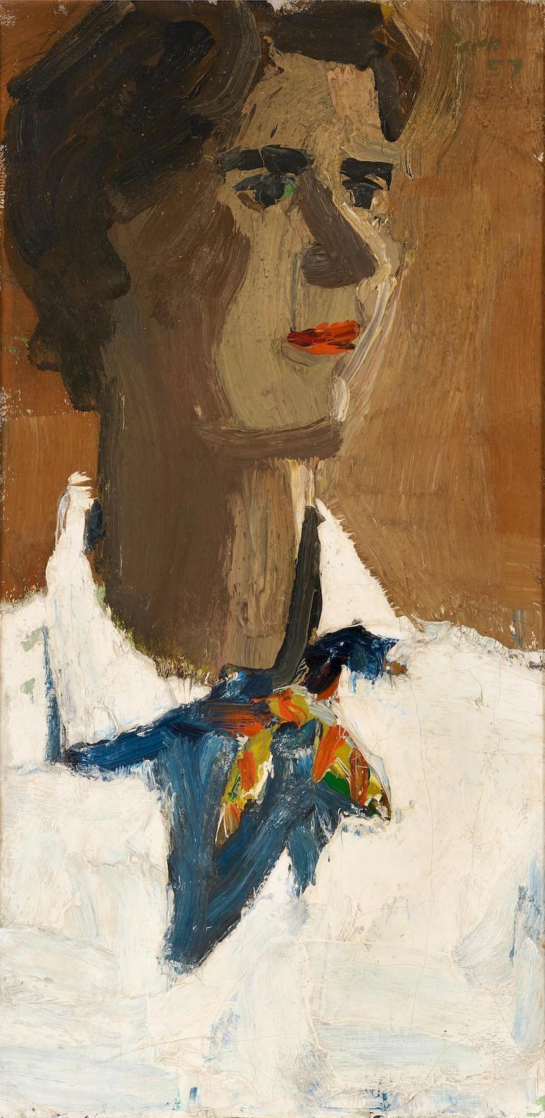David Park-Portrait Of Frances C. Pepper-1957