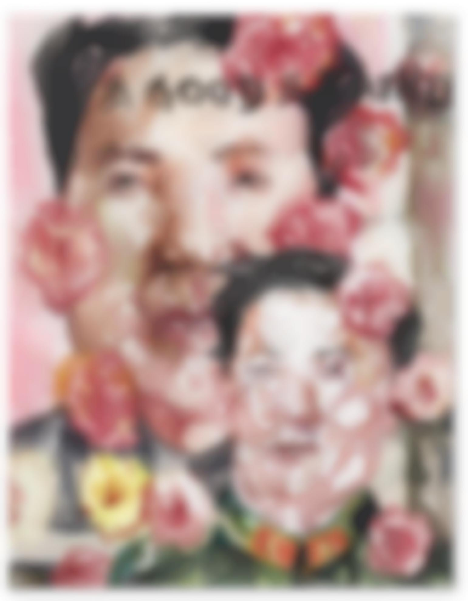 Liu Wei-A Good Father With Mao Poster-