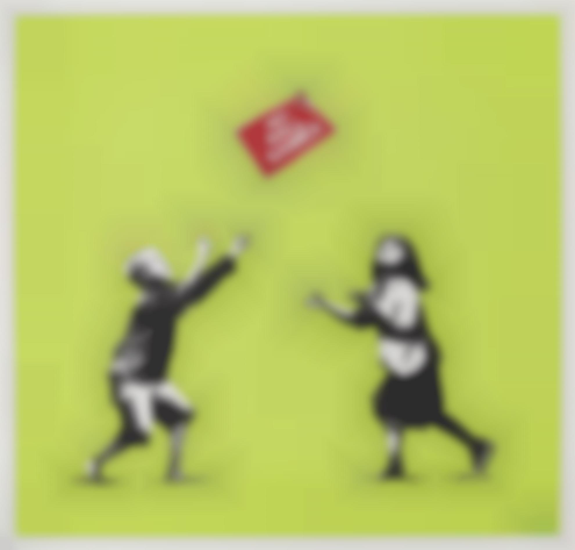 Banksy-No Ball Games (Green)-2009