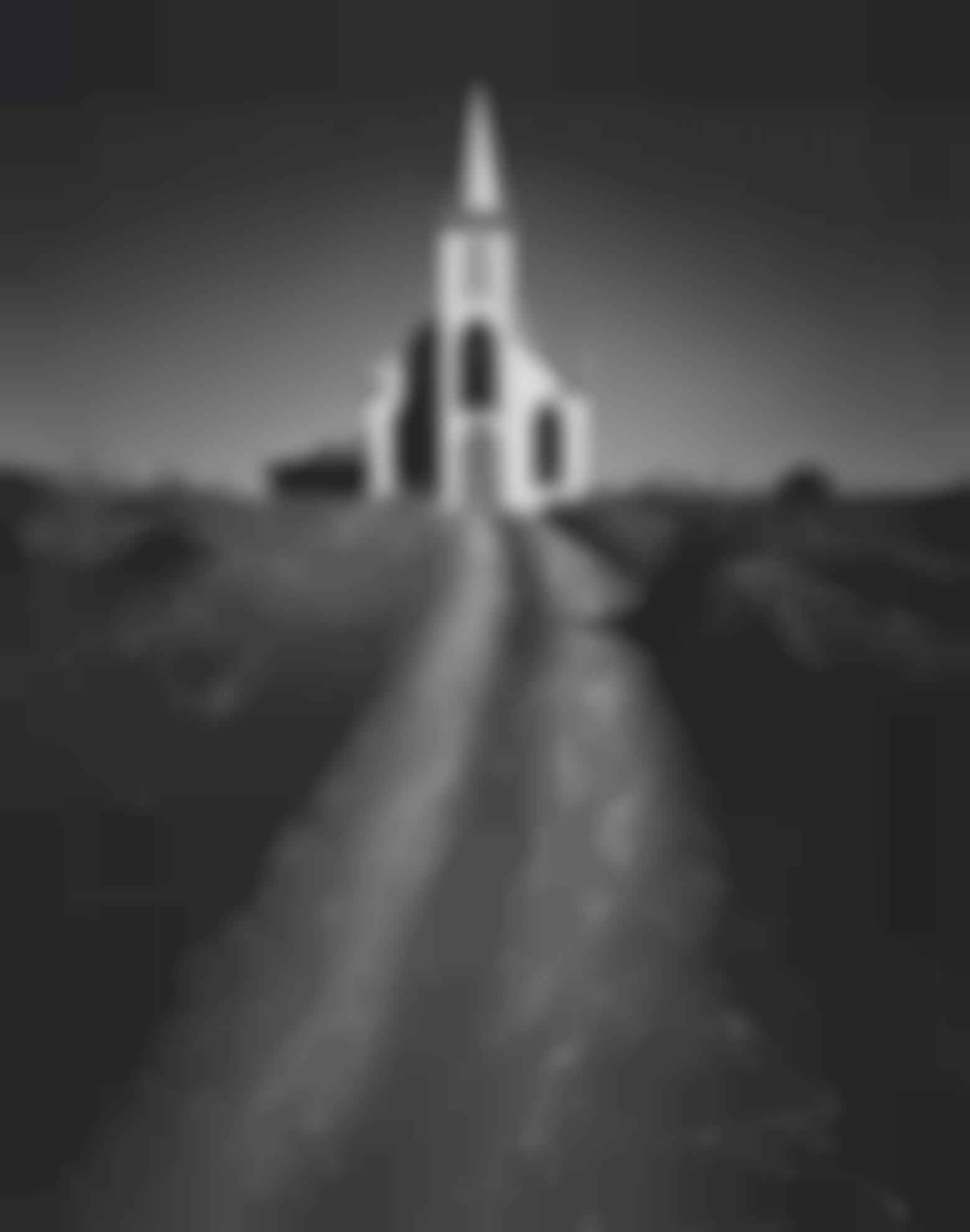 Ansel Adams-Church And Road, Bodega, California-1953