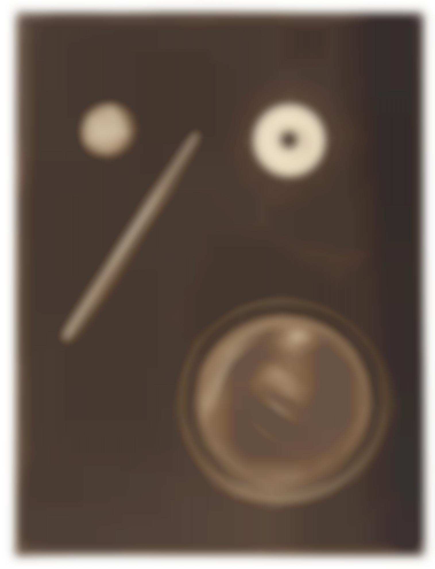 Laszlo Moholy-Nagy-Untitled (Photogram With Circular Shapes And Diagonal Line)-1925