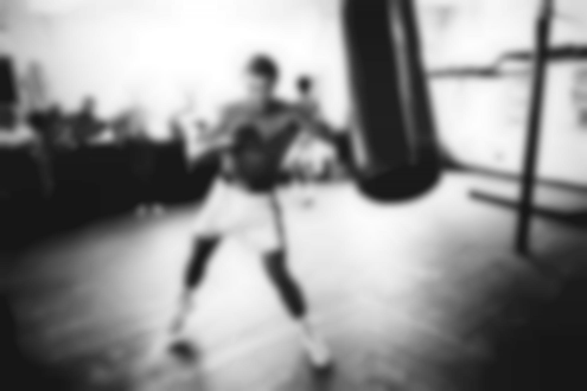 Chris Smith-On The Heavy Bag (Muhammad Ali Training At The 5Th Street Gym, Before His First Fight With Joe Frazier)-1971