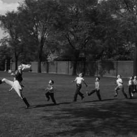 Alfred Eisenstaedt-Drum Major And Children, University Of Michigan, Ann Arbor-1951