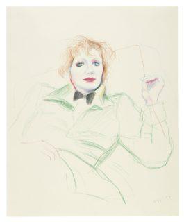 David Hockney-Celia With Bow Tie-1974