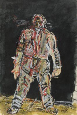 Georg Baselitz-Ohne Titel (Der Neue Typ)-1966