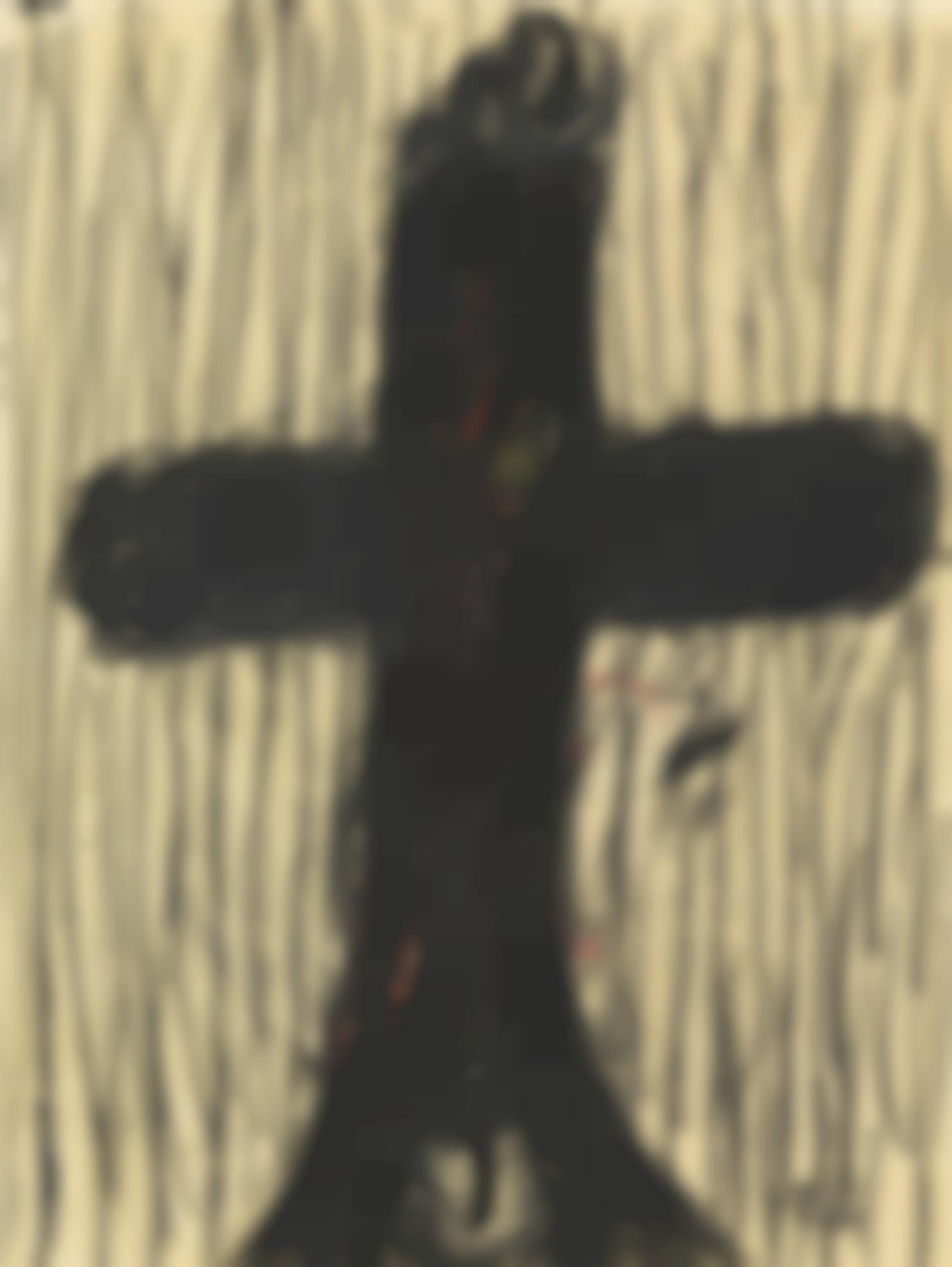 Georg Baselitz-Ohne Titel (Kreuz)-1964